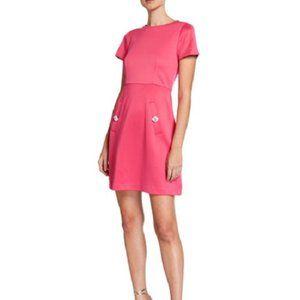 New Betsey Johnson Techno Knit Sheath Dress